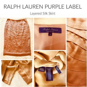 RALPH LAUREN PURPLE LABEL Silk Skirt